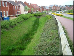 Open ditch / watercourse on a new housing extate