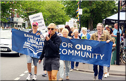 Friends of Lytham Institute and Library Protest March