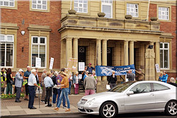 Protest at Lytham Assembly Rooms
