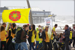 Fracking March Blackpool prom 2014