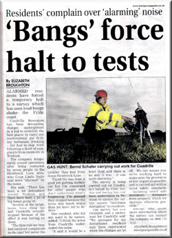 Bangs force halt to tests