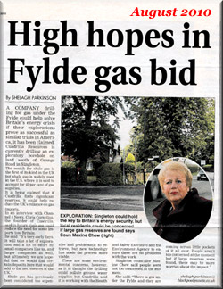 High Hopes in Fylde Gas Bid