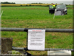Legal warning on the fracking site