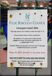 Sign at Playground