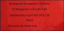 Ticket for planning meeting