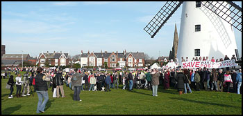 Protest on Lytham Green