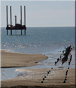 Test drilling off Harrowside, Blackpool